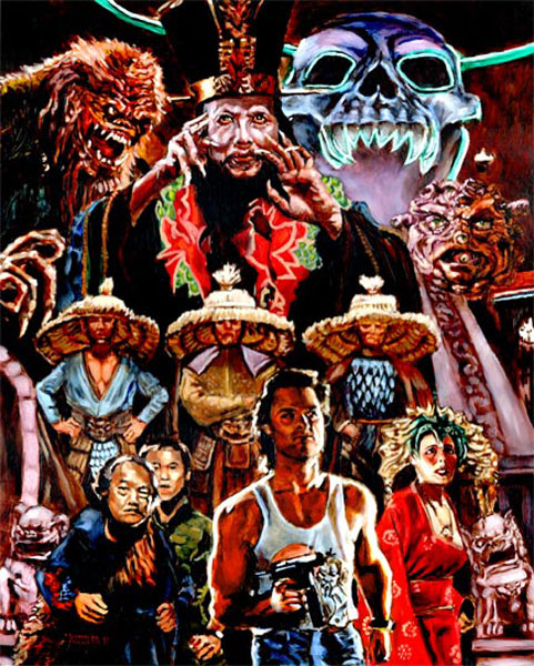 Big Trouble in Little China Leatherface Vs Jason Poster