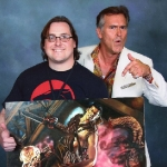 Chris Kuchta with Bruce Campbell