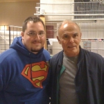 Chris Kuchta with John Saxon