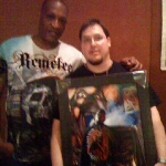 Chris Kuchta with Tony Todd